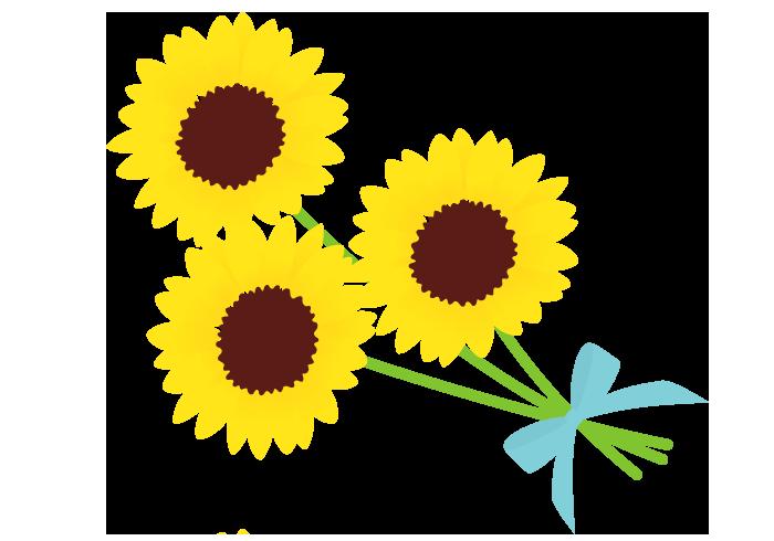 ヒマワリ 向日葵 の花 無料のフリーイラスト素材集