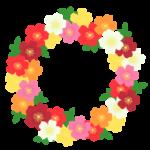 バラの円形フレーム