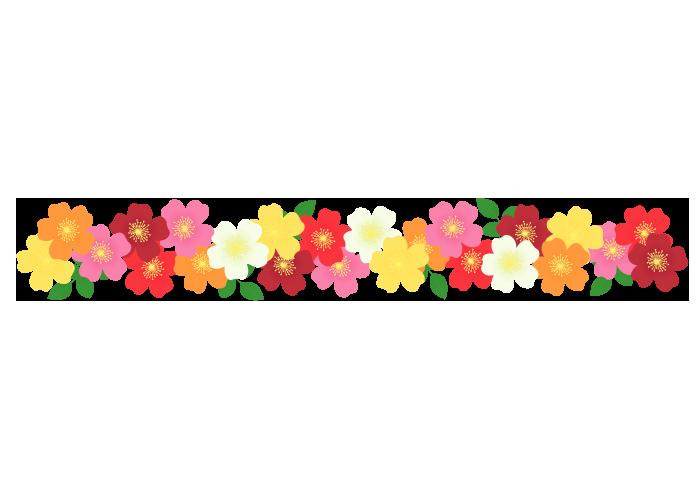 バラの飾り罫線