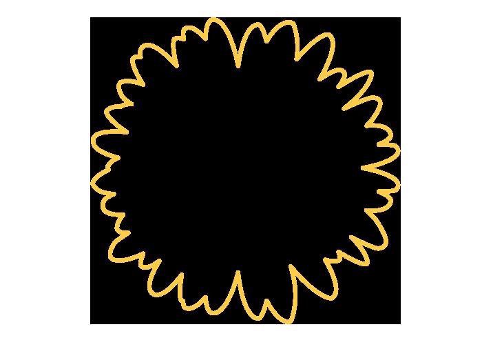 花の形状フレーム