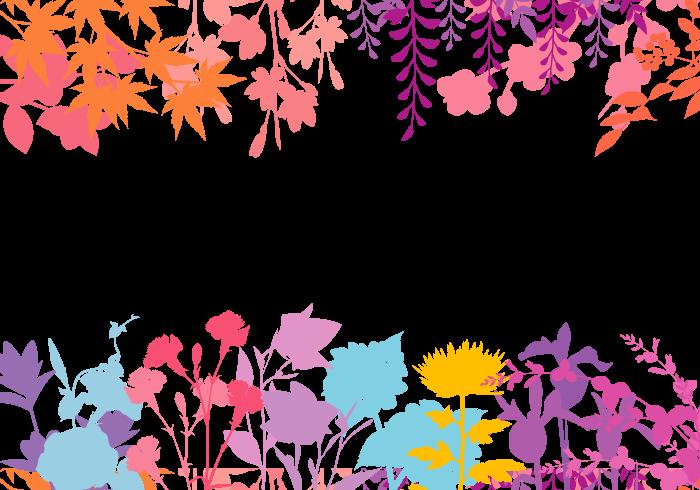 和の花の上下フレーム