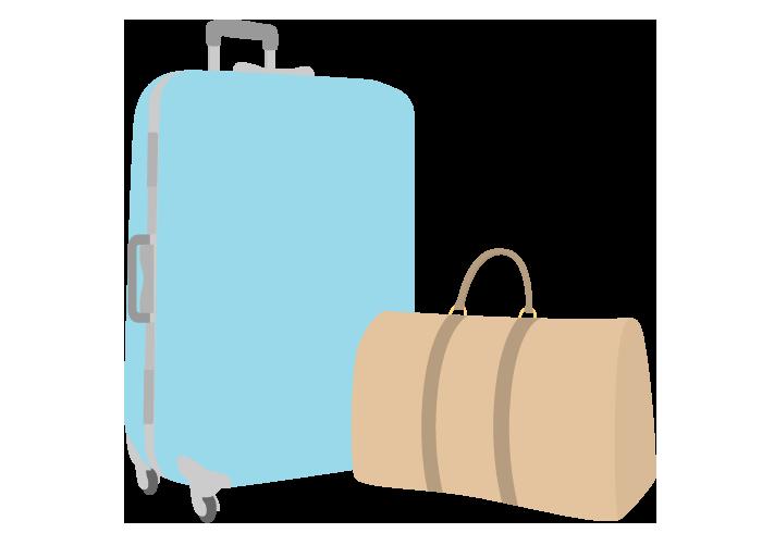 スーツケースと旅行カバン