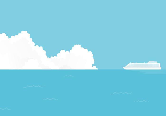 船が通る海上