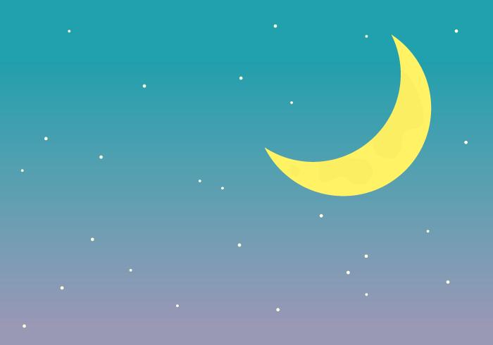 夜空(三日月)