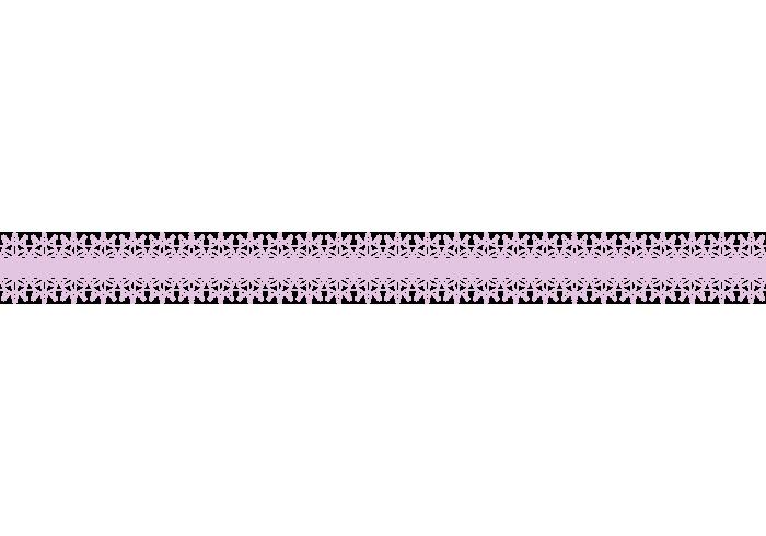 レースの飾り罫線