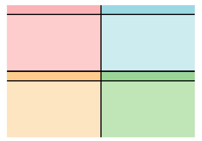 表(見出し付き4枠)