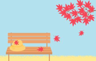 秋の風景(紅葉のカエデ)