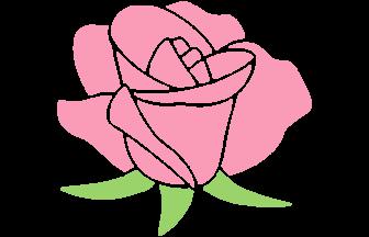ロゴ(ピンクのバラ)