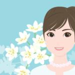 花と女性の背景(アリウム・コワニー)