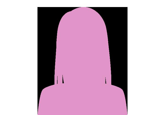 女性のシルエット(ロングヘアー)
