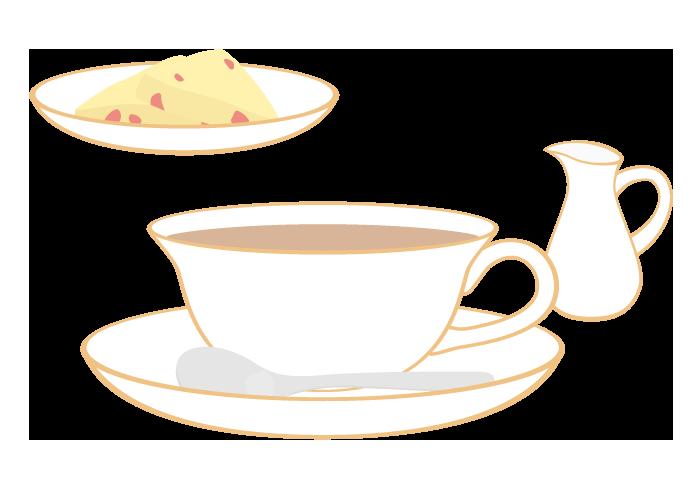 紅茶(ミルクティー)とスコーン