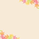 季節はがきのテンプレート(横書き用の紅葉)