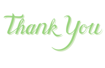 「Thank You」のカリグラフィー文字